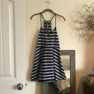 Navy and White Striped Summer Dress (Jr Sized)